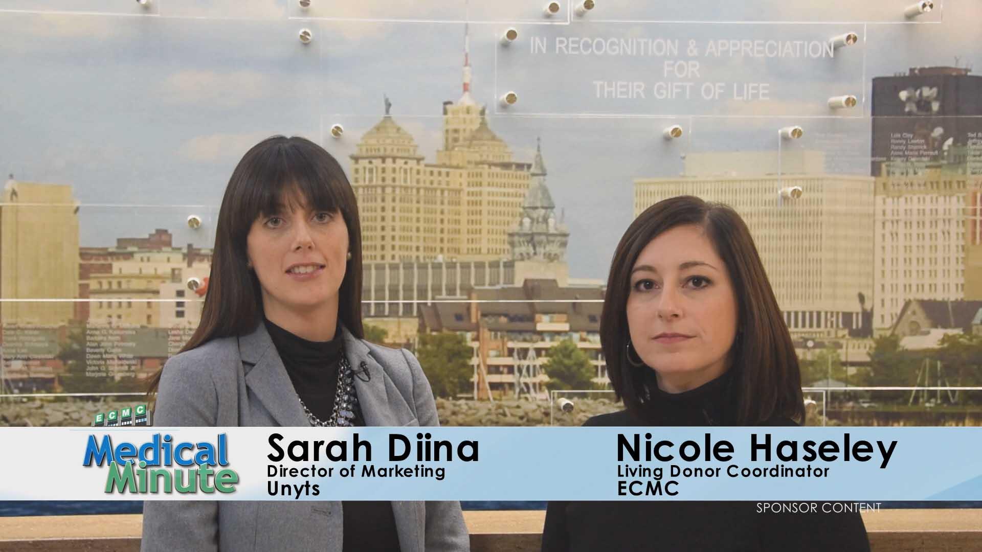 ECMCMedicalMinute Sarah&Nicole DonateLifeMonth 04.03.17