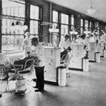Dental clinic and staff , Buffalo City Hospital, 1931. Photo from The Buffalo City Hospital Annual, 1931.