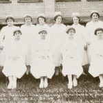 First class to complete the Buffalo City Hospital Nurse Training program, 1922.