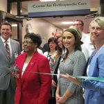 Ribbon cutting at the opening of the Center for Orthopaedic Care.