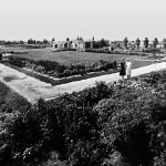 Strolling through the garden grounds, Buffalo City Hospital. Photo courtesy of The Buffalo Courier-Express Microfilm Collection, Archives & Special Collections, E.H. Butler Library, SUNY Buffalo State.