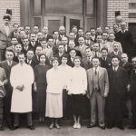 Dr. Goodale with members of the medical, surgical, and laboratory departments at Buffalo City Hospital. Photo from A Surgical Program Comes of Age, 1941-1962.