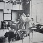 Buffalo City Hospital operating room. Photo from A Surgical Program Comes of Age, 1941-1962.