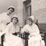Nurses on the roof at Buffalo City Hospital. Photo courtesy of the Buffalo History Museum, used by permission.