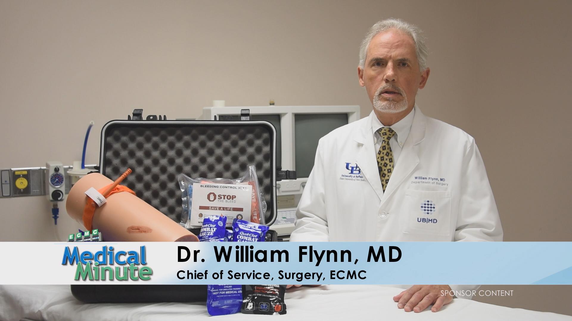 ECMCMedicalMinute Dr.WilliamFlynn StopTheBleed 070819 STILL