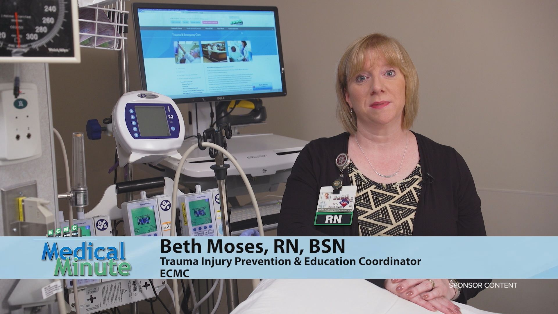 ECMCMedicalMinute BethMoses PedestrianSafety July2019 STILL
