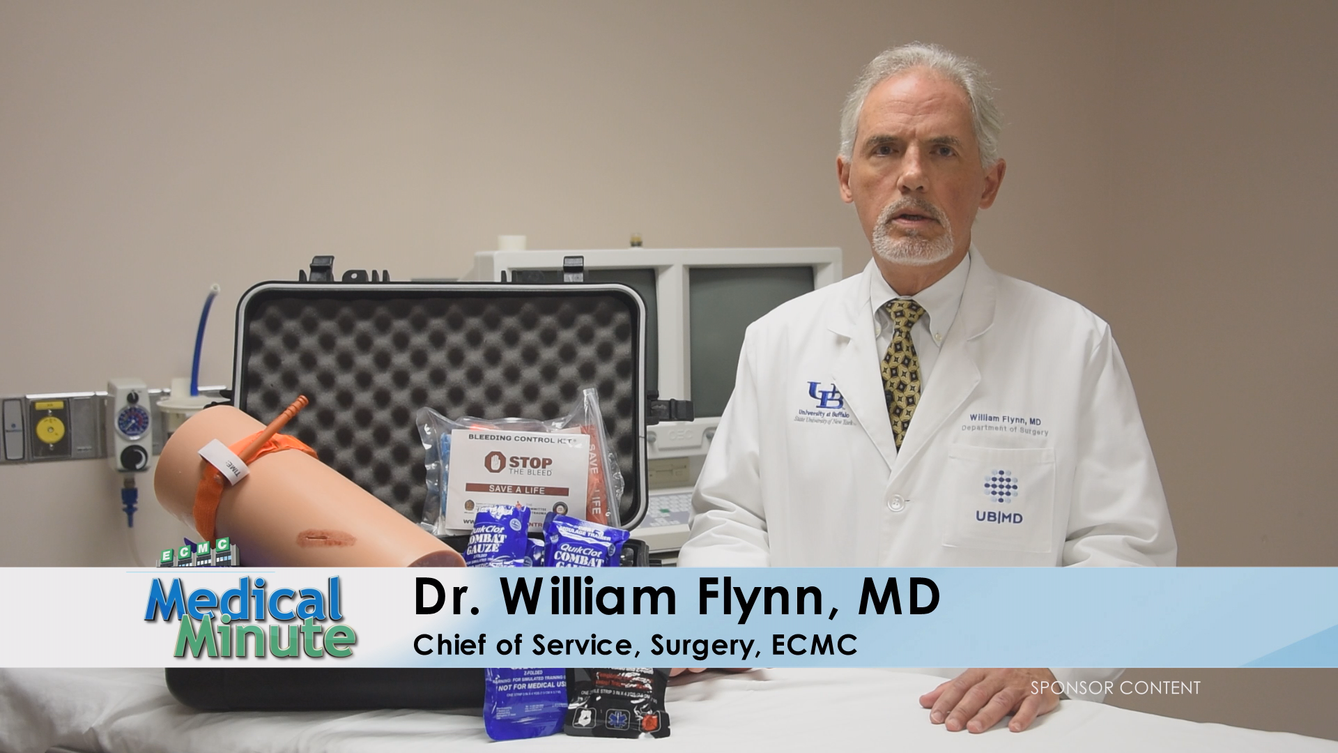 ECMCMedicalMinute Dr.WilliamFlynn StopTheBleed 101419 STILL