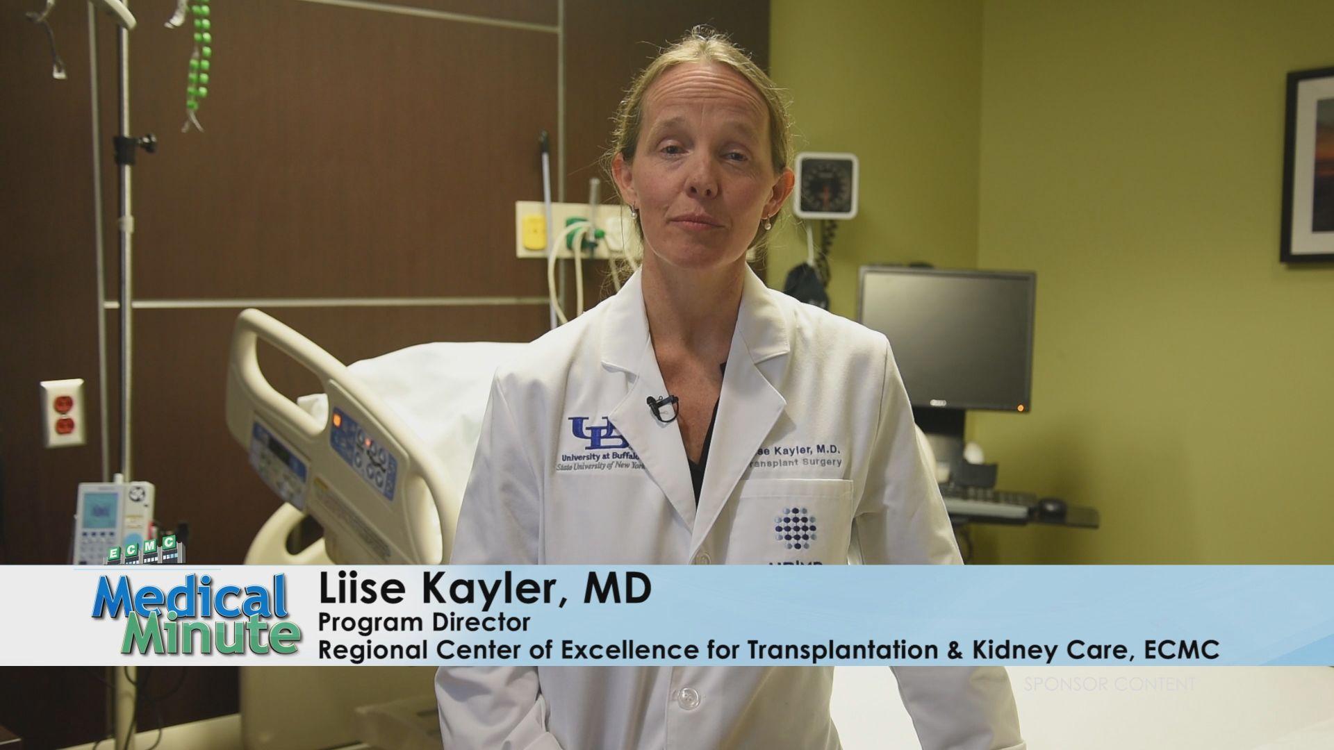ECMCMedicalMinute Dr.Liise Kayler Kidney Transplant 120919 STILL