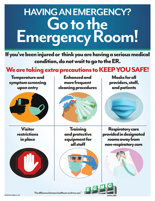 Have an Emergecny? Go to the emergency room.