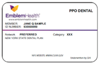 Dental Benefits card