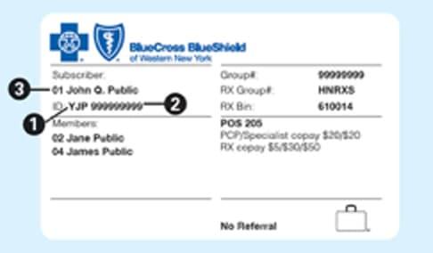 Health Insurance card example