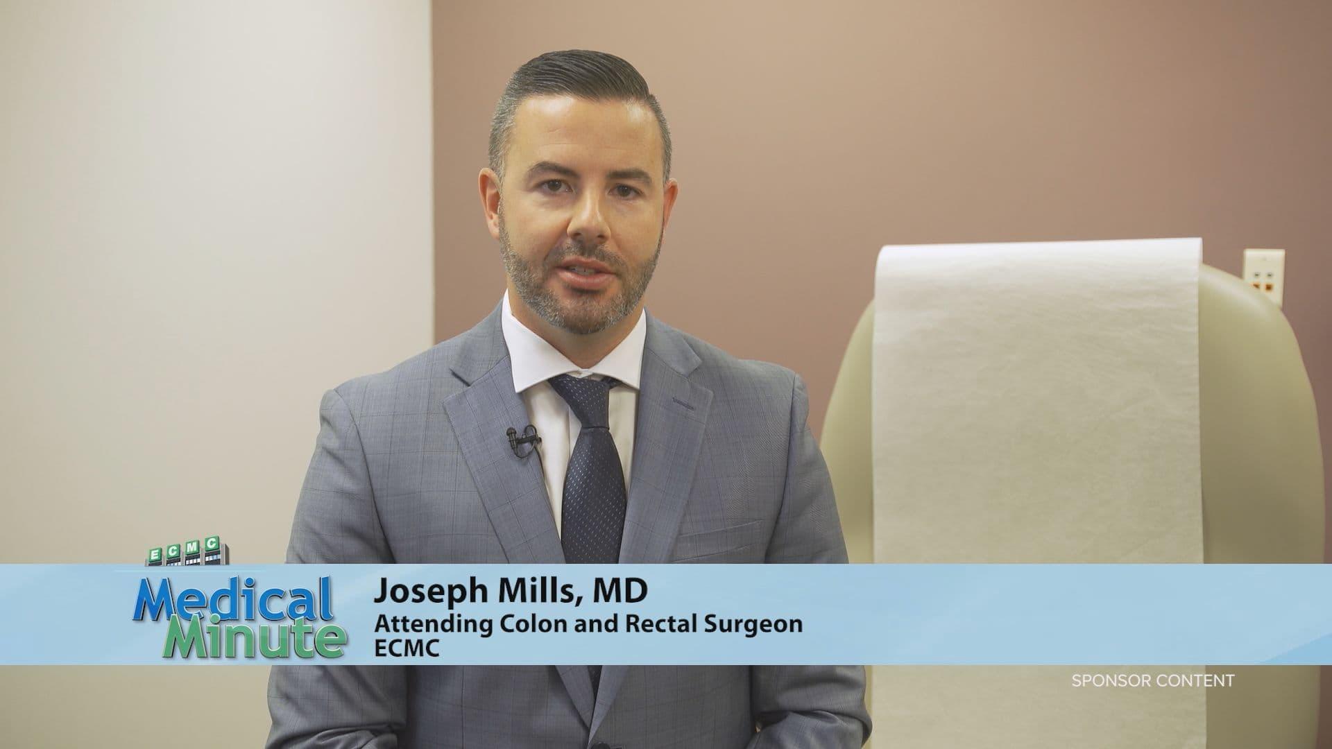 ECMCMedicalMinute Dr.JosephMills ColonandRectalCancerAwareness 110920 STILL